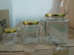 Jar kaca kotak import
